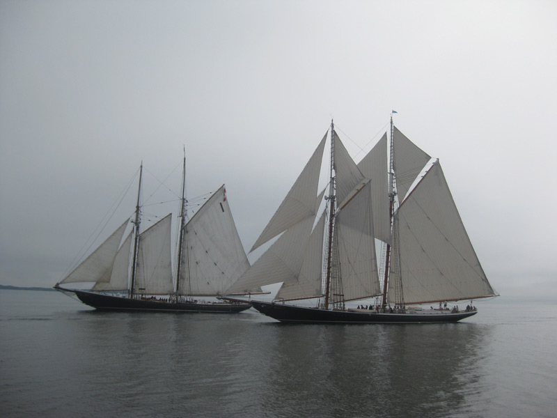 Bluenose II and Columbia in Lunenburg