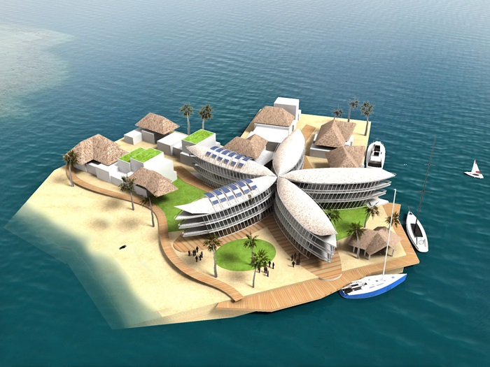 Polynesian Floating City Concept