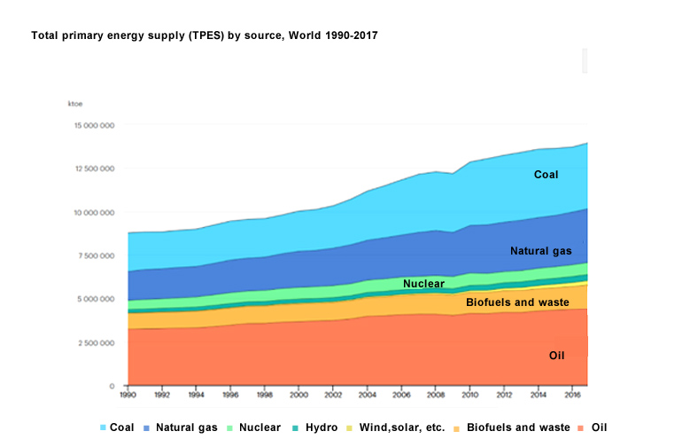 Total primary energy supply Table